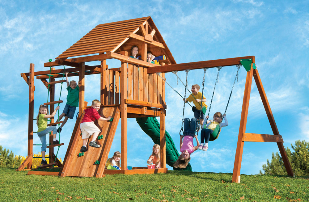 Circus Deluxe Wood Play Set with Monkey Bars | Kids Creations