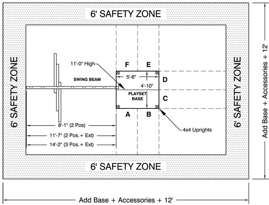Big Top playground safety zone