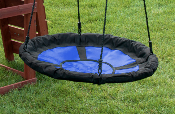 Nest swing safely holds up to 3 children.