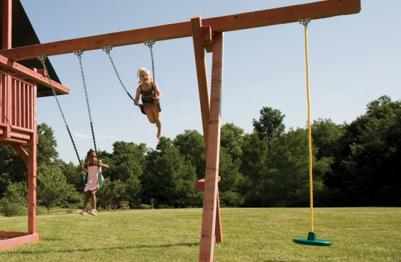 No swingset would be complete without swings. We even included a disc rope swing to give extra diversity during play.
