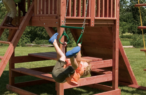 The swings come with commercial grade swing hangers and a plastisol coating on the chain for no-pinch grip, making our swings comfortable and safe for kids.