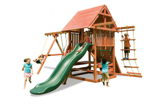 Opening Star is made from 100% California redwood so it is rot and insect resistant to last through your kid's childhood.