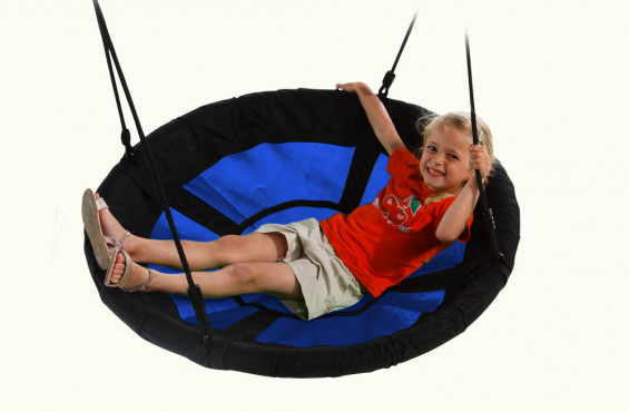 Large base allows children to position themselves in multiple ways.