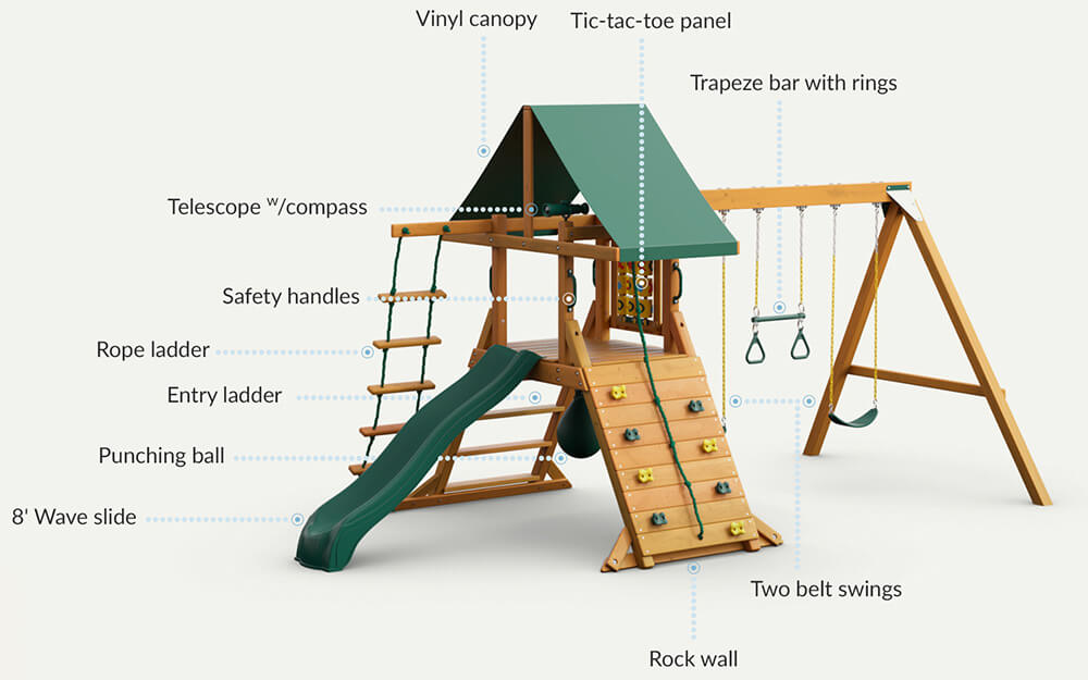 high point swing set features