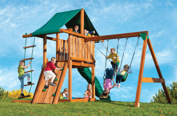 The Circus is our most affordable redwood swing set, however, there is plenty of built in adventure and imagination for children to explore.