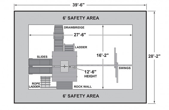 Windjammer dimensions and safety zone.