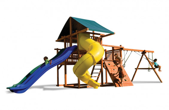 Our swings have a safe weight limit of 250 lbs per swing so your child can play worry free.