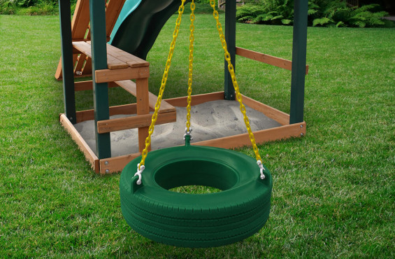 With a 360 range of motion, kids can have more fun swinging either together or separately.