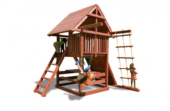 The Juggling Act swing set comes with 8 accessories for kids to choose from during playtime.