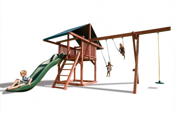 Crafted in the U.S.A. with 100% California redwood, your kids will experience the ultimate thrill on one of the most sturdy play structures in the world.