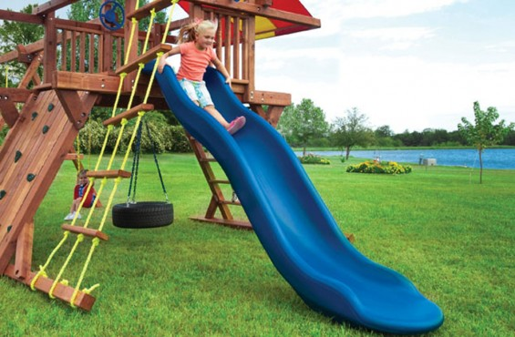 Made from molded foam & polyethylene for extra durability to support kids safe play.
