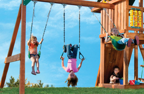 Some of the best childhood memories start on a swing. It's no wonder we included two belt swings - all with Plastisol coated chains for pinch-free grip during play.