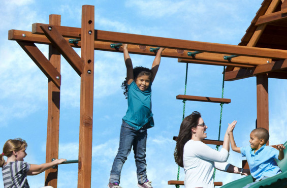 Your kids can climb safely on our monkey bars. With recessed bolts and smooth edges, there are no cuts or scrapes while playing.