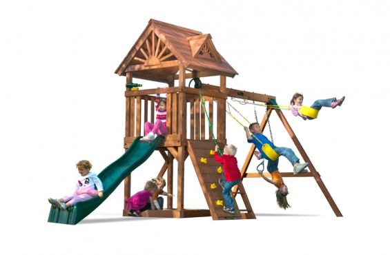 While the High Flyer is one of our smallest playsets we offer, we designed it to include children's  favorite play time accessories.