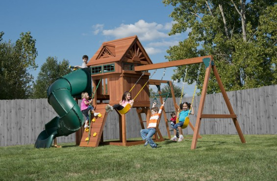 This model offers the most adventure in the Value Cedar Series featuring over 10 action-packed play activities.