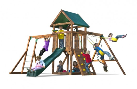 The High Flyer swing set will get kids climbing, swinging and imagining instantly all season long.