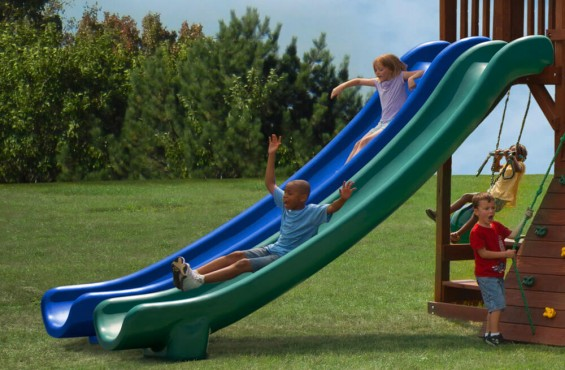 Our slide meets/exceeds ASTM safety standards & has an extra 4 ft for optimal play.