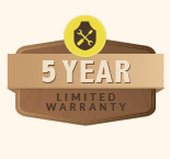 Limited 5-year warranty